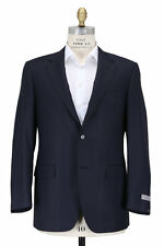 NWT CANALI  Solid Black Wool 2Btn Flat Front Suit tom ford tie
