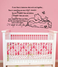 Winnie the Pooh Wall Decal Kids Quote Vinyl Sticker Decal Nursery Decor ZX211