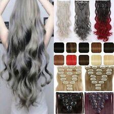 Full Head Long 8 Piece 18 Clip Clip In Hair Extensions Ombre Hair For Human TG5