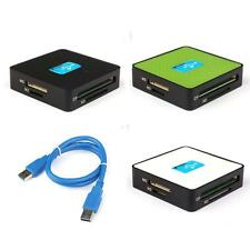 Multi Memory Card Reader USB 3.0 All In One Adapter SD Micro SD/TF CF XD MS M2