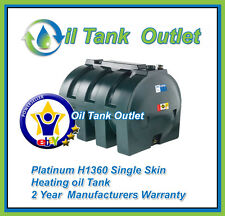 Domestic Heating Oil Storage Tank 1360 Horizontal Single Skin
