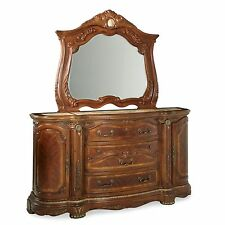 Low Chest of Drawers Dresser with Mirror and or Mirrored Bureaus for Bedroom Set