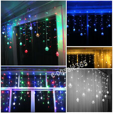 3*1M/0.6M LED Hanging Twinkling Dropping Snowflake Christmas String Fairy Lights