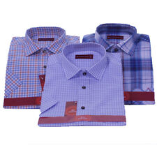 Men Collection Short Sleeve Casual Quality Cotton Check Shirt In 3 Colours