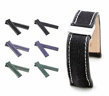 BOB Marino Canvas Deployment Strap for Breitling, 20-22 mm, 3 colors, new!