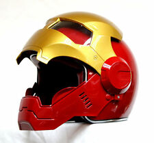Masei Helmets 610 Red-Gold AtomicMan Bike Superhero Predator Motorcycle Helmet