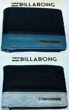 BILLABONG WALLET NEW Mens Boys DIMENSION Grey Blue PVC Leather-look BIFOLD Surf