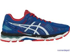 NEW Asics Gel Kayano 22 Men's Running Shoes BLUE/WHITE/FIERY RED NEW IN BOX