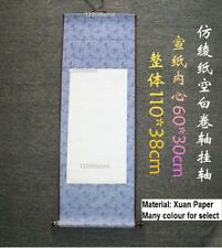 Empty Blank Chinese Japanese Painting Calligraphy Xuan Paper Wall Scroll 43""