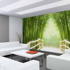 "Fleece Photo Wallpaper ""Bamboo Walk"" ! Forest Bamboo road Jungle Adesired"