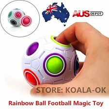 Educational Rainbow Ball Magic Cube Speed Twist Puzzle Intelligence Toys Gift OP