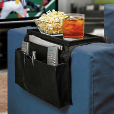 Sofa Couch Remote Control Holder Arm Rest Organizer Storage Tray Bag 6 OP.