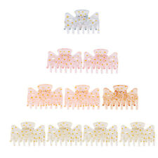 Set of 10pcs Plastic Multicolor Hair Claw Clips Clamps Grips Butterfly Hair Pins