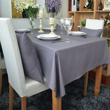 Pure Gray Table Cloth Cover Cotton Tablecloth Home Sofa Cushion Cover Textile