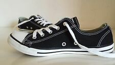 Womens / Girls Converse All Star DAINTY Lo OX Pumps, Black, Size 5, Immaculate