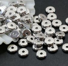 Heishi Disk Beads, Tierracast, 6mm Spacers, Rhodium Plate, 20/100 Pieces, 4261