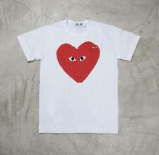 New Men's Comme Des Garcons CDG Play Letter Red Heart Mini eyes Short T-shirts