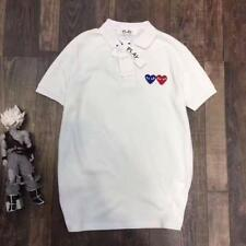 Men's Comme Des Garcons CDG Play Double Two POLO Heart Short Women's T-shirts Ne