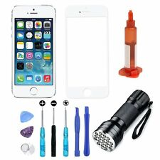 White Front Screen Touch Glass Replacement Repair Tools UV Light For iPhone 5S 5