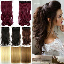 Long Real Straight Curly Clip In Hair Extensions Full Head Brown Blonde Hair TA2