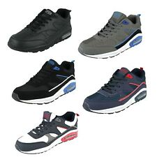 MENS AIR TECH WALKING RUNNING LACE UP CASUAL SHOES SPORTS TRAINERS LEGACY