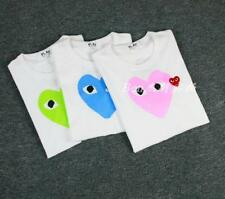 New Men's Comme Des Garcons CDG Play Big Heart Short Women's Summer T-shirts