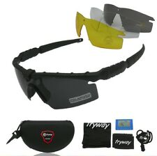 Tactical Frame Sun Glasses Shooting Sport Safety Polarized Lens Goggles Black