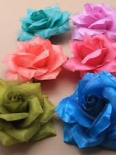 small hair flower clip and brooch pin , wear in hair or on jacket