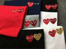 2017 Men's Comme Des Garcons CDG Play Lovely double cute Heart Short T-shirts