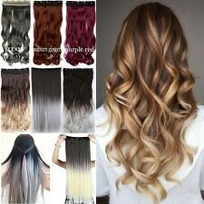 """Full Head Ombre 17-30"""" Long Clip in Full Head hair Extensions as remy human 3TG"""