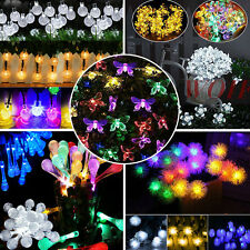 20/50 LED Solar Powered Fairy String Lights Outdoor Garden Party Wedding Xmas