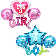 MagiDeal Foil Star Heart Balloon Baby Boy Girl Shower Christening Birthday Party