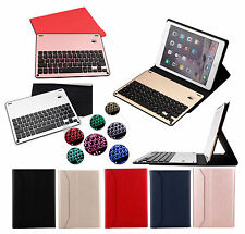 7 Colors Backlit Detachable Aluminium Bluetooth Keyboard Leather Cover For iPad