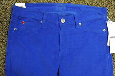 HUDSON NICO Sexy Corduroy Jeans NWT$185 Size 27-28 Cobalt Blue! Mid-Rise Skinny!