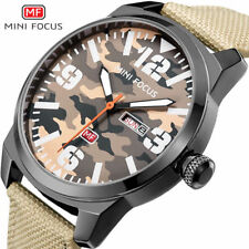 MINI FOCUS Brand Luxury Mens Watch Quartz Analog Date Sports Watches Nylon Strap