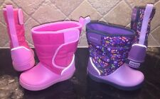 NEW Girls CROCS Crocband Rain Snow Boot  Toddler Size 10 C PURPLE or PINK