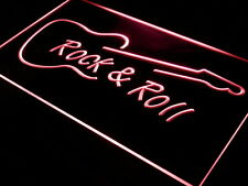 Rock and Roll Guitar Music NEW LED Neon Light Sign