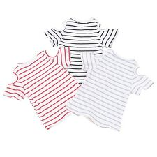 Baby Girl Kids Short Sleeve Casual T-shirt Cotton Striped Summer Blouse Top