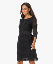 $548 NEW Diane von Furstenberg DVF Nolly Cosmic Lace A Line Dress Black 10