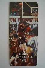 Vintage Basketball Media Press Guide University Of Texas 1981