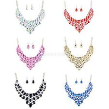 MagiDeal Lady Bridal Full Rhinestone Crystal Jewelry Set Choker Necklace Earring