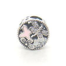 Authentic S925 Sterling Silver Springtime Mixed Enamels & Clear CZ Charm bead