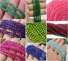 4MM Natural Faceted Jade /Amethyst /Emerald Round Gemstone Loose Beads 15'' AAA