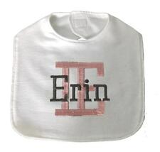 New Handmade Personalized Embroidered 100% Cotton Flannel Baby Bib