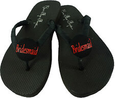 Black & Red Bridesmaid Flip Flops - many color options, wedding shower gifts
