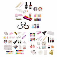 Nail Art UV Gel Manicure DIY Set Tools Tips Glue Acrylic Powder Decoration Kit