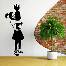 BANKSY GIRL WITH BOMB vinyl wall art sticker decal