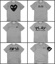Men's women's Comme Des Garcons CDG Play cute Heart Short T-shirts 6 Style