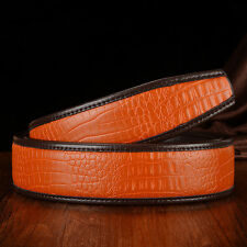 1.2M Mens Crocodile Leather Belts Genuine Fashion Belt Waist Stra Or Belt buckle