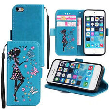 Fashion Leather Flip Card Stand Wallet Case Cover For Apple iPhone 5 6 6S 7 Plus